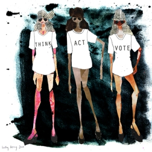 Think Act Vote artwork by Holly Berry