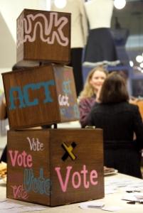 Think Act Vote Ballot Box