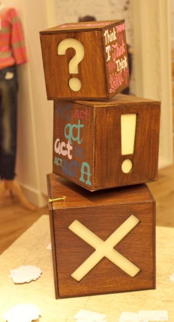 Think Act Vote Ballot Box - Symbols View