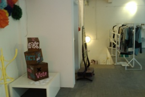 Think Act Vote Ballot Box in its new home