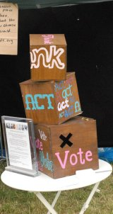 Think Act Vote ballot box